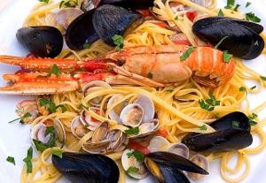 Ristorante Pizzeria Lepontina Spaghetti ai frutti di mare e scampi