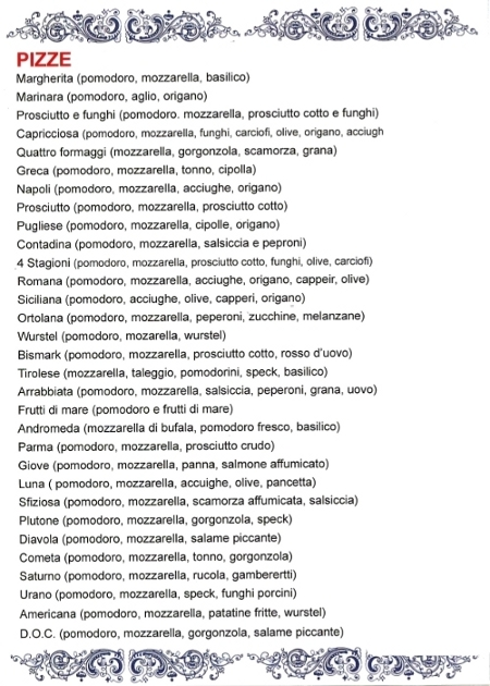 Ristorante Pizzeria Lepontina Pizze